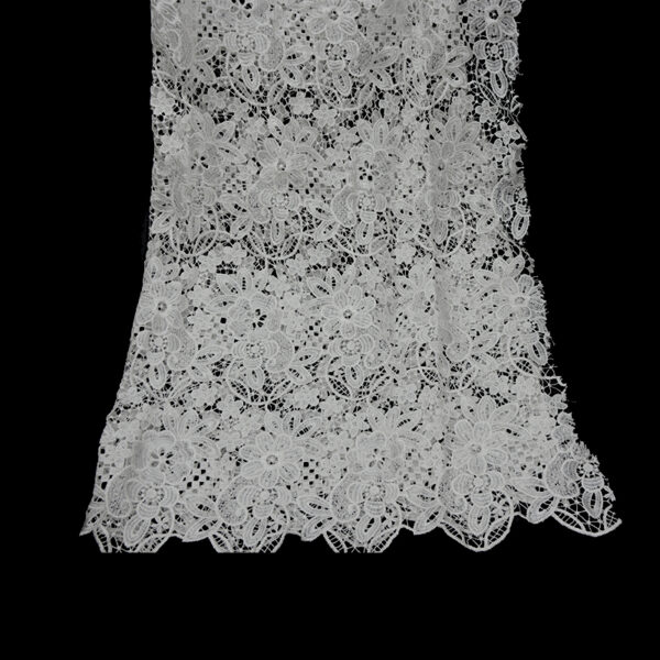 White Guipure Lace Fabic