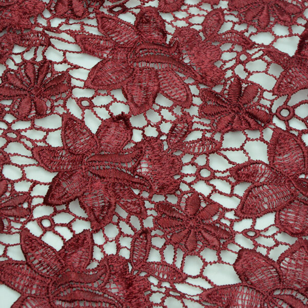 Red Guipure Fabric