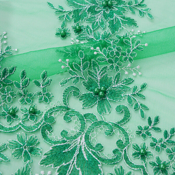 Embroidered Mesh Fabric