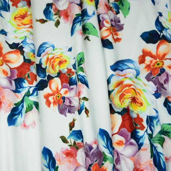 printed rayon chalis fabric